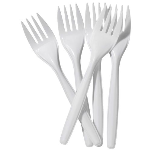 ValueX Plastic Forks White (Pack 100)