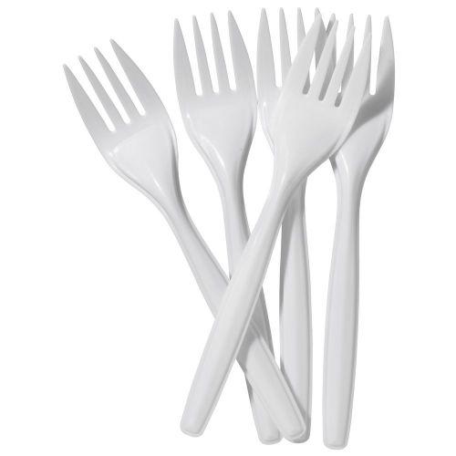 ValueX Plastic Fork White (Pack 100)