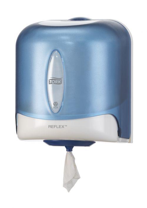 Tork 473180 Reflex M4 Jumbo Wiper Dispenser Centrefeed Plastic White/Turquoise