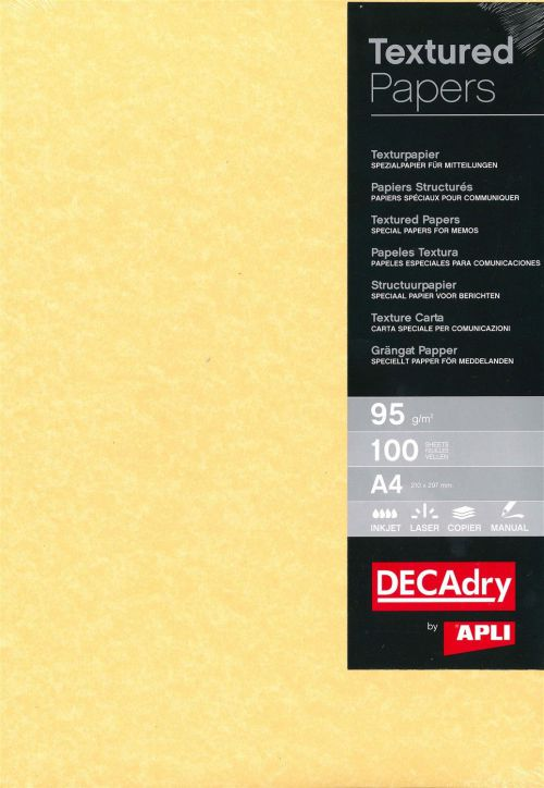 Decadry A4 Parchment Paper Gold 95gsm 100 Sheets