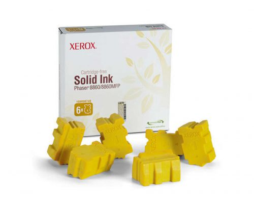 Xerox ColorStix Yellow (Yield 14,000 Pages) Solid Ink Sticks Pack of 6