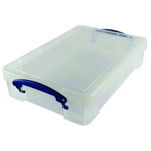 Really Useful Clear 4L Plastic Storage Box 395x255x80mm
