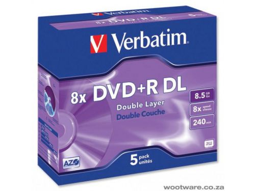 Verbatim DVD Plus R Double Layer Box of 5
