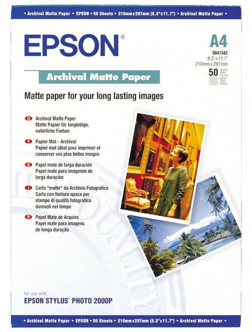 Epson A4 Archival Matte Paper 50 Sheets - C13S041342