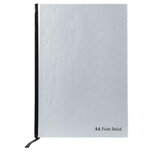 Pukka Pad A4 Casebound Hard Cover Notebook Ruled 192 Pages Silver (Pack 5)