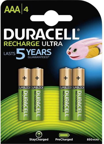 Duracell Ultra Power AAA Rechargeable Batteries PK4