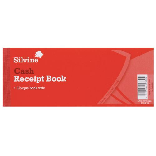 Silvine Receipt Book 80x202mm PK36