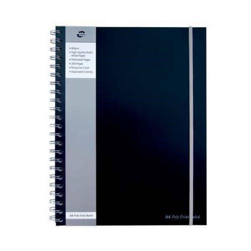 Pukka Pad A4 Polyprop Jotta 200 Page Silver/Black PK3
