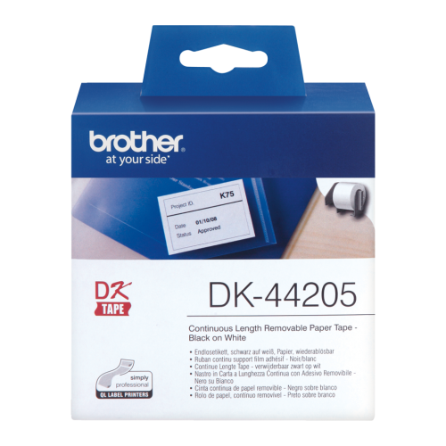 Brother DK44205 Continuous Removable Paper Roll 62mmx30m