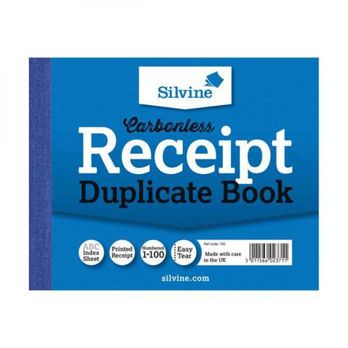 Silvine Carbonless Duplicate Receipt Book (Pack 12)