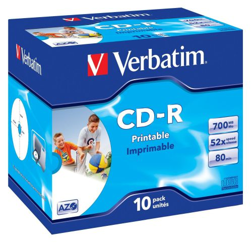 Verbatim CDR Printable 700MB Box of 10