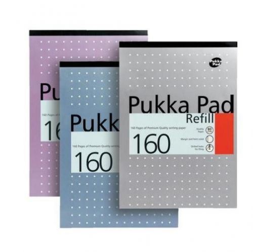 Pukka Pad A4 Refill Pad Ruled 160 Pages Metallic Assorted Colours (Pack 6)