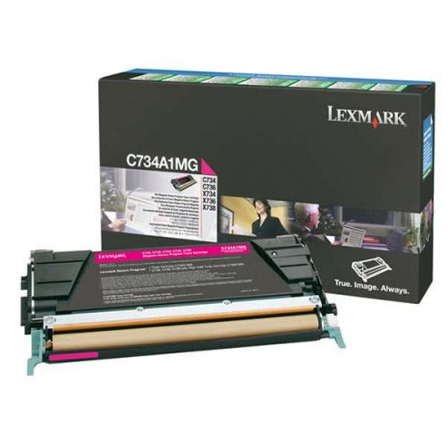 Lexmark C734A1MG Magenta Toner 6K