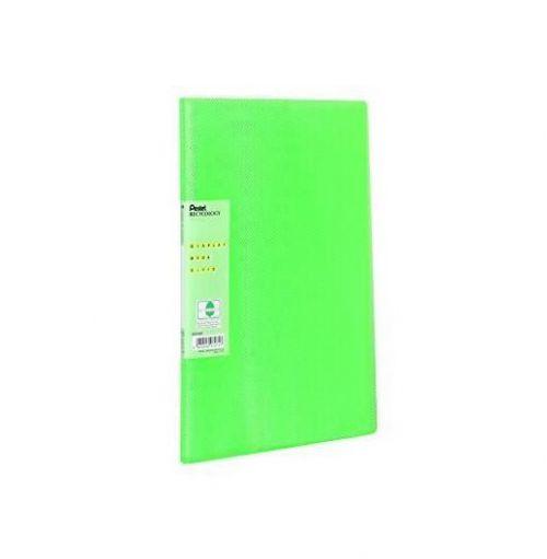 Pentel Recycology Vivid A4 Display Book 30 Pockets Green (Pack 10)