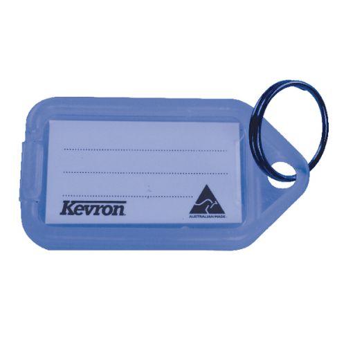 Kevron Clicktag Key Tag Plastic Blue ID5B [Pack 100]