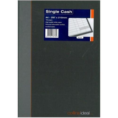 Collins Ideal Manuscript Book Casebound A4 Single Cash 192 Pages Black 6421