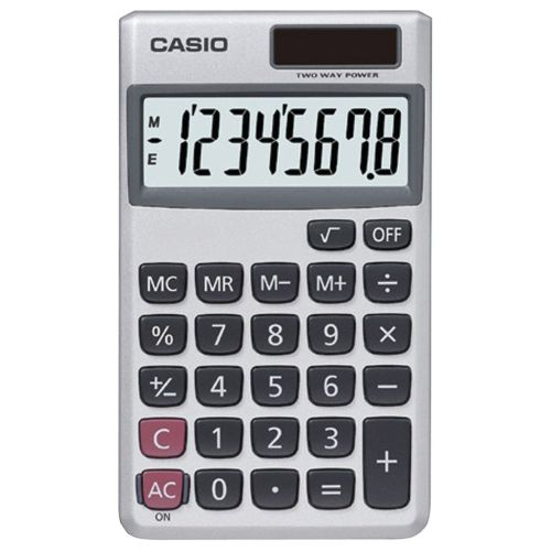 Casio SL-300SV Solar 8-Digit Pocket Calculator White