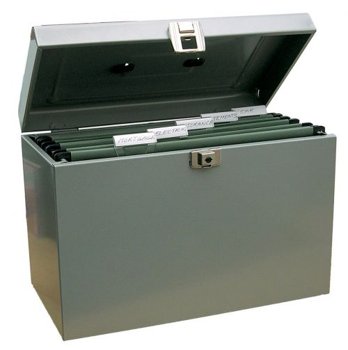 ValueX Cathedral Metal File Box A4 Grey