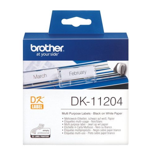 Brother DK11204 Multi Purpose Label Roll 17mmx52mm 400