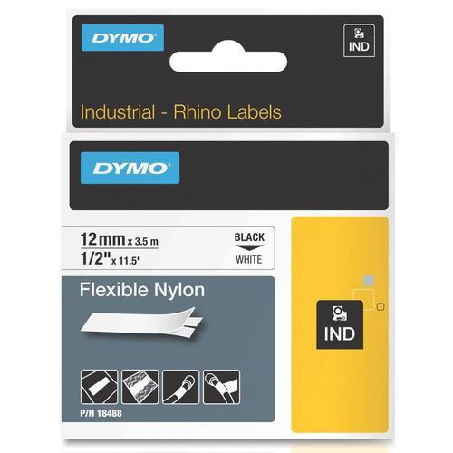 Dymo Rhino Industrial Nylon Tape 12mm x 4m White 18488