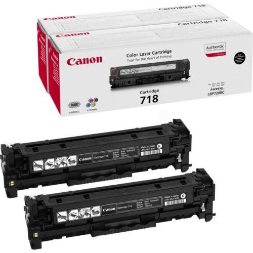 Canon 2662B005 718 Black Toner 3.4K Twinpack