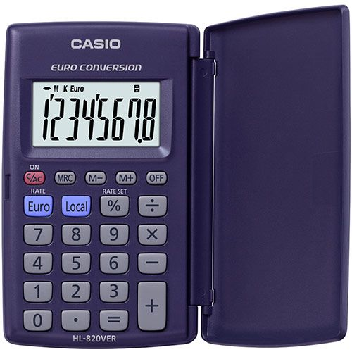 Casio HL-820VER 8-Digit Pocket Calculator with Case