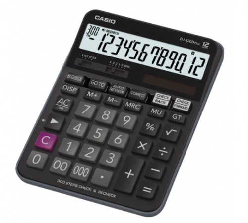 Casio DJ-120D Plus 12 Digits Extra Big Desk Calculator
