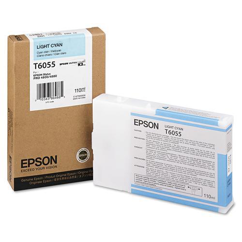 Epson T6055 Light Cyan Ink Cartridge (110ml) for Stylus Pro 4800/4880 C13T605500