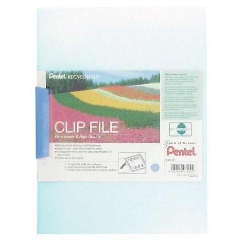 Pentel Recycology A4 Clip Files Blue PK10