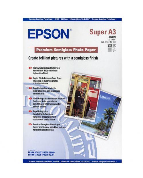 Epson C13S041328 Semi Gloss Photo Paper A3Plus 20 Sheets