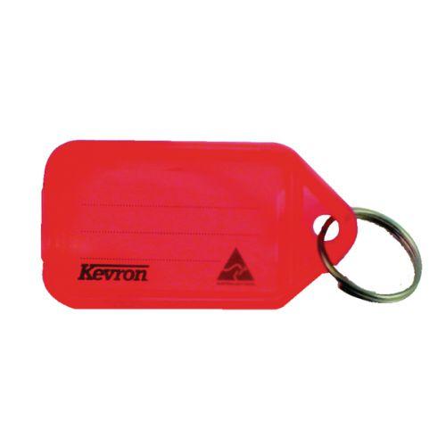 Kevron Clicktag Key Tag Plastic Red ID5R [Pack 100]