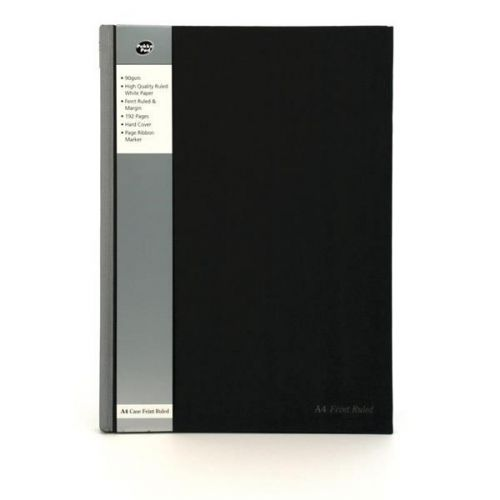 Pukka Pad A4 Casebound Hard Cover Notebook Ruled 192 Pages Silver/Black (Pack 5)