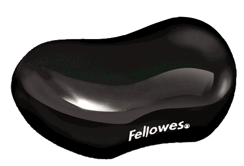 Fellowes Crystal Flex Rest Gel Black Ref 9112301
