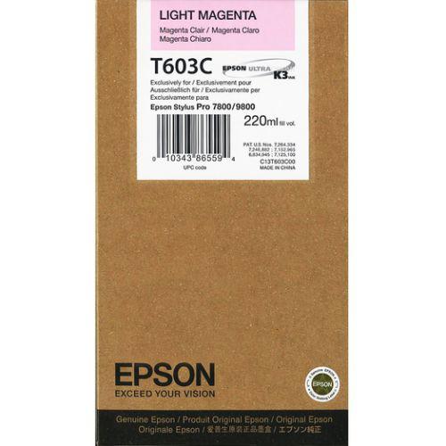 Epson C13T603C00 T603C Light Magenta Ink 220ml