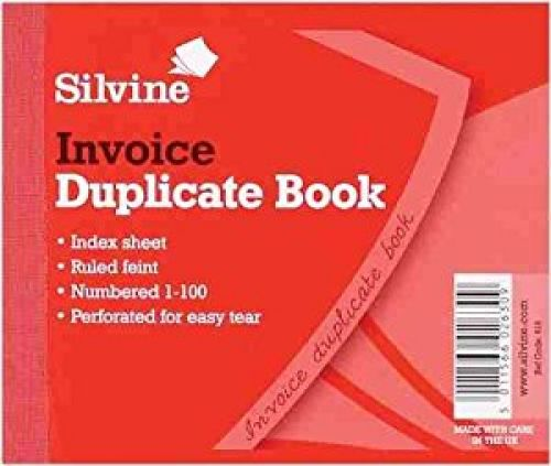 Silvine Duplicate Invoice Book 102x127mm (Pack 12)