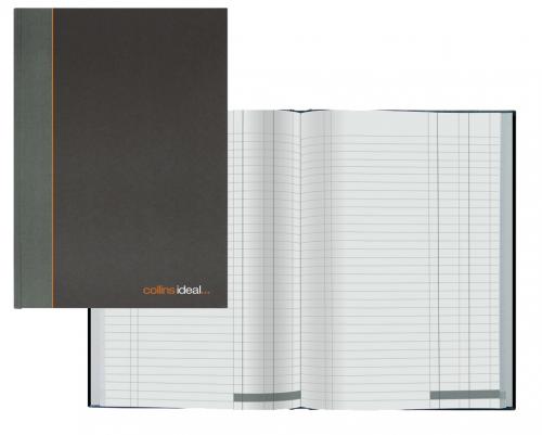Collins Ideal Manuscript Book Casebound A5 Double Cash 192 Pages Black 464