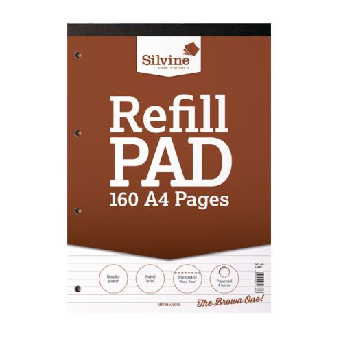 Silvine A4 Refill Pad 160 Pages PK6