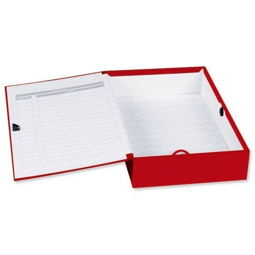 Concord Classic Box File Foolscap Red PK5