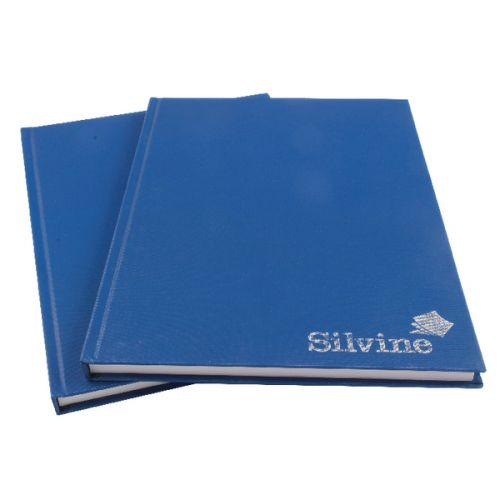 Silvine A4 Casebound Notebook Feint Blue (Pack 6)