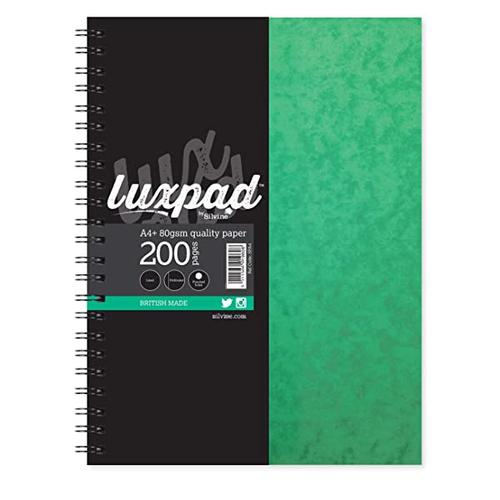 Silvine A6 Wirebound Pressboard Cover Notebook Ruled 200 Pages Green (Pack 12)