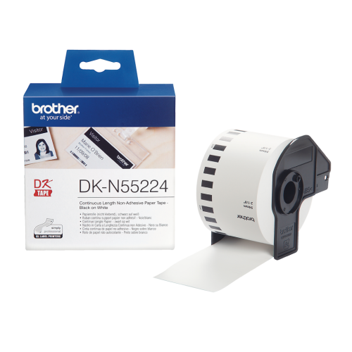 Brother DKN55224 Continuous Non Adhesive Paper Roll 54mmx30m