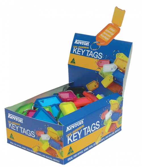 Kevron Clicktag Key Tag Plastic Assorted ID5AC [Pack 100]