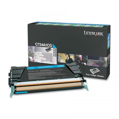Lexmark C734A1CG Cyan Toner 6K