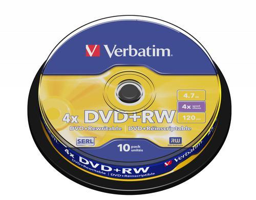 Verbatim 43488 DVD+RW 4.7GB 10Pk