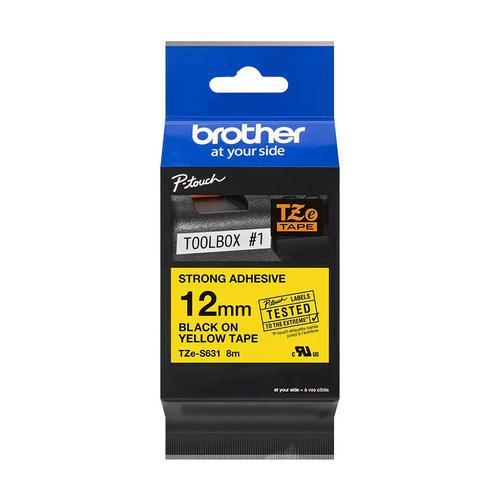 Brother TZES631 YELLOW LAPEL TAPE 12mm