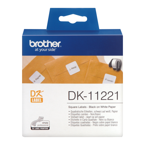 Brother DK11221 Label Roll 23mmx23mm 1000