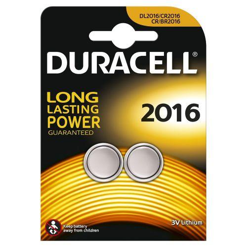 Duracell Lithium Coin 3V 2016 2PK