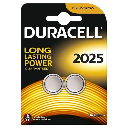 Duracell Lithium Coin Batteries 3V 2025 (Pack 2)