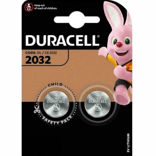 Duracell Lithium Button Cell Battery 3V DL2032  [Pack 2]