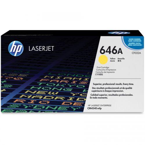 HP CF032A 646A Yellow Toner 12.5K